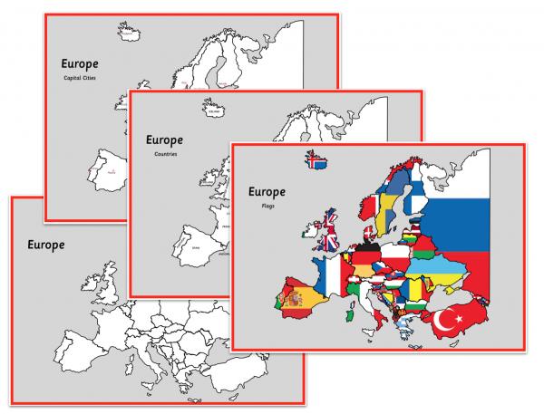 Europe Map Set
