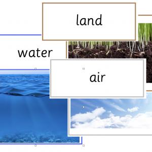 Land Water Air sorting