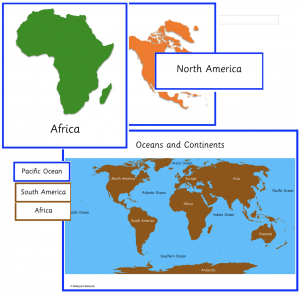 Continents and Oceans Nomenclature