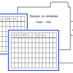 Division No Remainder Activity Cards