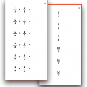 Fractions - Addition with Common Denominator