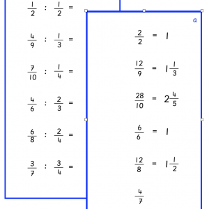 Fractions - Division by Fractions