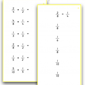 Fractions - Multiplication by Fractions