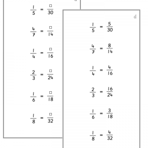 Fractions - Reducing and Expanding