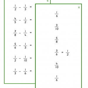 Fractions - Subtraction with Different Denominator