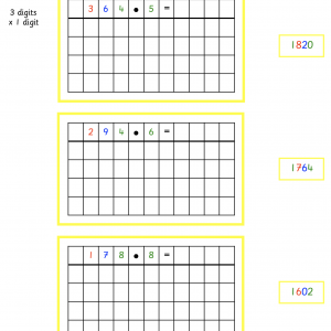 Multiplication with Change Work Cards