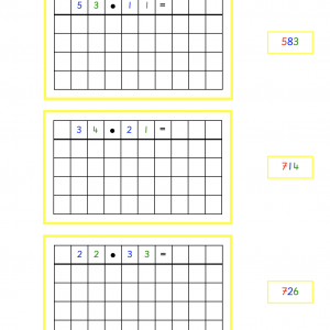 Multiplication Without Change Work Cards