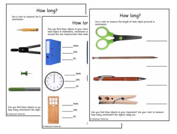 Classroom Measuring work cards